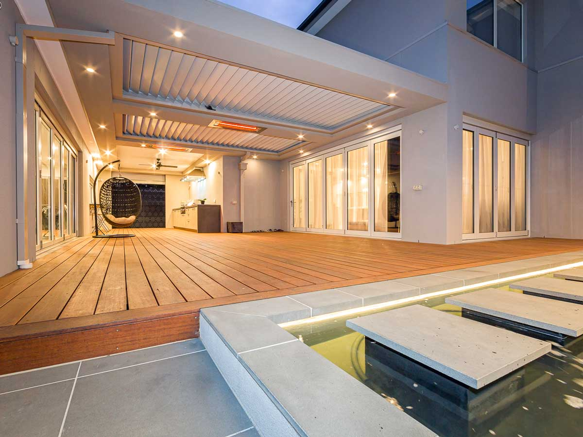 Twin Opening & Closing Ultimate Louvre with Bulkhead - Mt Waverley